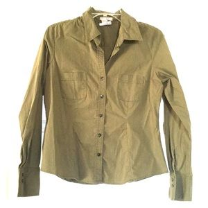 Old Navy stretch button down blouse size medium